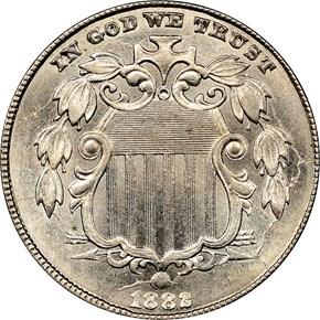 1882 5C MS obverse