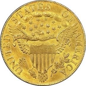 1803 SMALL STARS REV $10 MS reverse