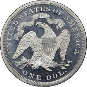 1869 J-764 S$1 PF reverse