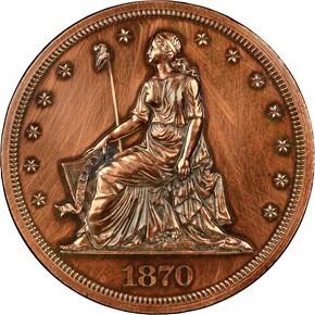 1870 J-1004 S$1 PF obverse