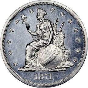 1871 J-1138e S$1 PF obverse