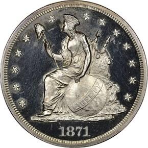 1871 J-1140 S$1 PF obverse