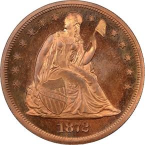 1872 J-1210 S$1 PF obverse