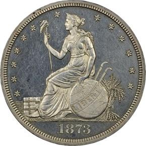 1873 J-1293 T$1 PF obverse