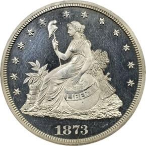 1873 J-1315 T$1 PF obverse