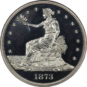 1873 J-1322 T$1 PF obverse