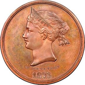 1876 J-1460 S$1 PF obverse