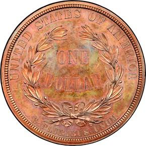 1876 J-1460 S$1 PF reverse
