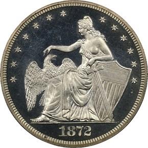 1872 J-1205 S$1 PF obverse