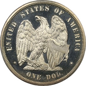 1872 J-1205 S$1 PF reverse