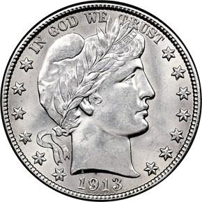 1913 D 50C MS obverse