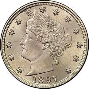1897 5C MS obverse
