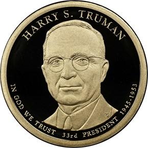 2015 S HARRY S. TRUMAN $1 PF obverse