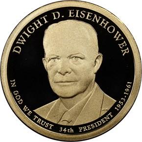 2015 S DWIGHT EISENHOWER $1 PF obverse