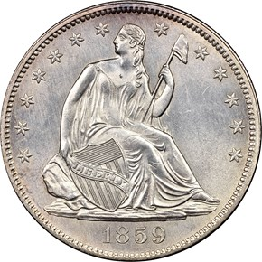 1859 50C MS obverse