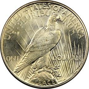 1935 S$1 MS reverse