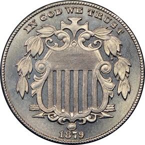 1879 5C PF obverse