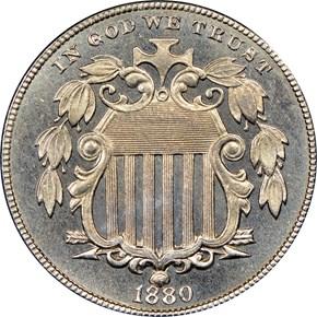 1880 5C PF obverse
