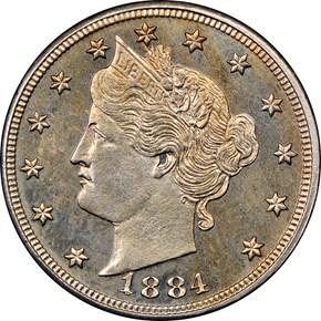 1884 5C PF obverse