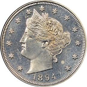 1894 5C PF obverse