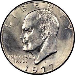 1977 D $1 MS obverse