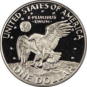 1977 S $1 PF reverse
