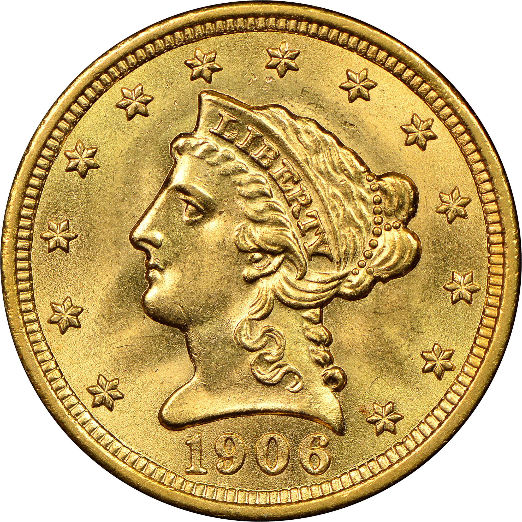 1906 $2 5 MS Liberty Head $2 50 | NGC