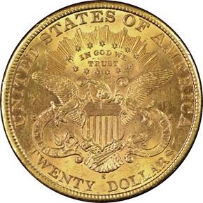 1898 S $20 MS reverse