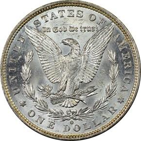 1882 O $1 MS reverse