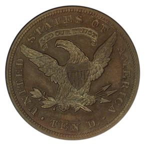 1863 J-350 $10 PF reverse