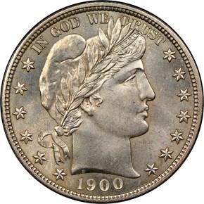 1900 50C MS obverse