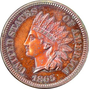 1865 1C PF obverse