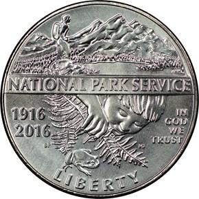 2016 D NATIONAL PARK SERVICE 50C MS obverse