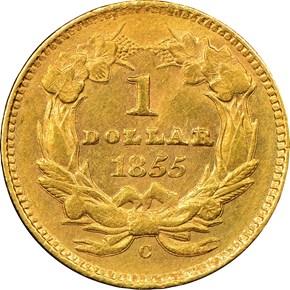 1855 C G$1 MS reverse