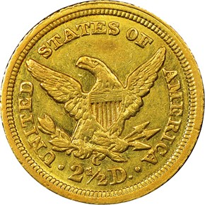 1843 C SMALL DATE $2.5 MS reverse