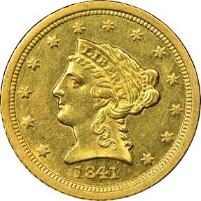 1841 C $2.5 MS obverse