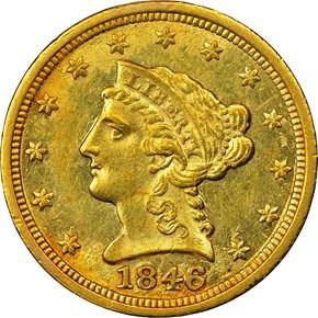 1846 C $2.5 MS obverse