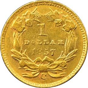 1857 C G$1 MS reverse