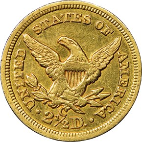 1854 C $2.5 MS reverse