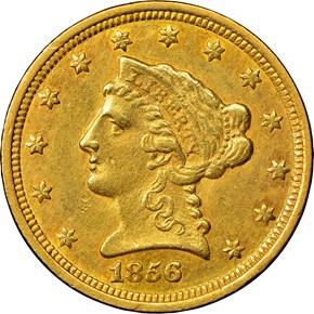 1856 C $2.5 MS obverse