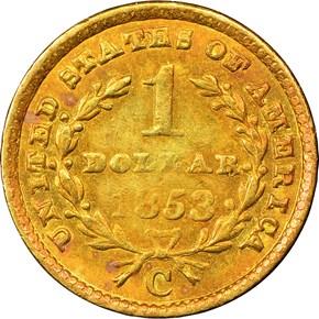 1853 C G$1 MS reverse