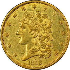 1838 C $5 MS obverse