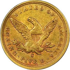 1840 C $5 MS reverse