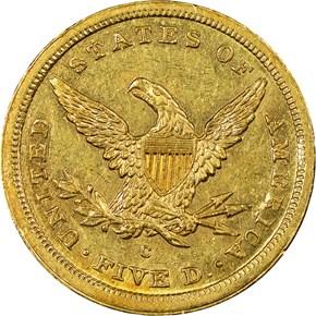 1841 C $5 MS reverse