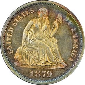 1879 10C PF obverse