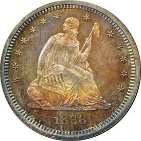 1868 25C PF obverse