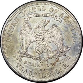 1876 CC T$1 MS reverse