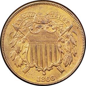 1866 2C MS obverse