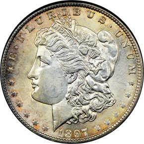 1897 O $1 MS obverse