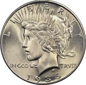 1935 S $1 MS obverse